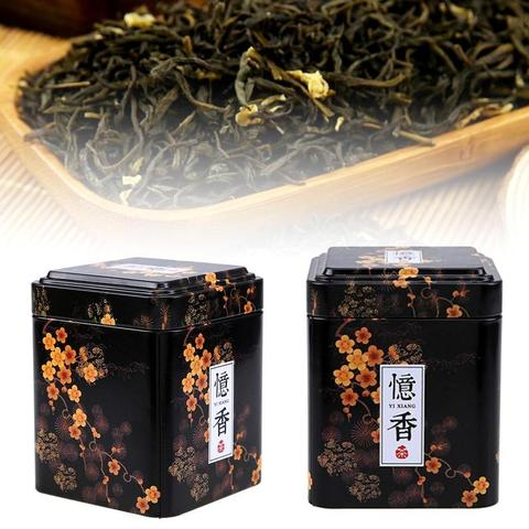 1PC Vintage Tea Caddy Pastoral Candy Tin Mini Iron Storage Boxes Sealed Coffee Powder Cans Tea Leaves Container Metal Organizer Pakistan