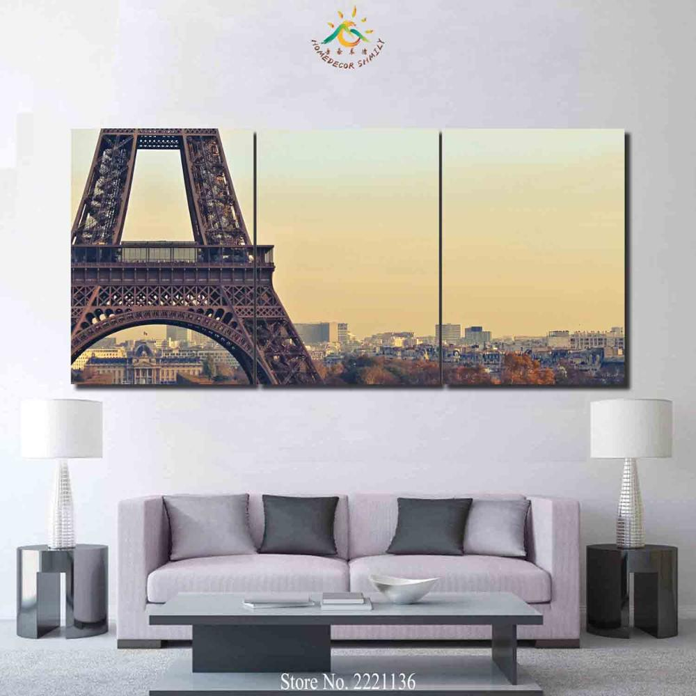 3 4 5 Pieces Paris Tower Wall Art Prints on Canvas Modern Pop Art ...
