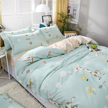4pcs/set Green Cartoon Dear High Quality Bedding Set Bed Linings Duvet Cover Bed Sheet Pillowcases Cover Set(China)