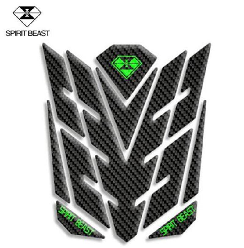 SPIRIT BEAST Universal Reflective 3D Motorcycle Sticker Fuel Oil Tank Motorbike Stickers Moto Pegatinas Decals Protector