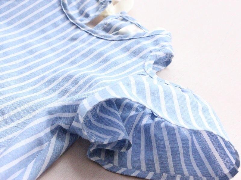 Летние платья для маленьких девочек, милое платье в полоску с короткими рукавами для маленьких девочек, платье-пачка с цветами