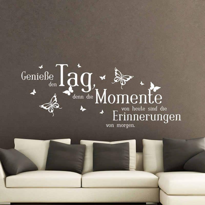 German Stickers Quote Geniebe Den Tag