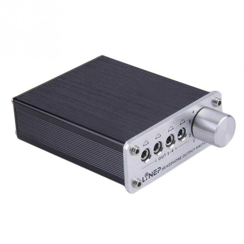 Nobsound 4 Input 4 Output 3.5mm Stereo Audio Signal Switch Headphone Switcher цена и фото