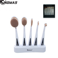 Professional 5Pcs Oval Toothbrush Makeup Brush Sets Powder Foundation Eyeshadow Eyeliner Makeup Brushes Cosmetics Kit