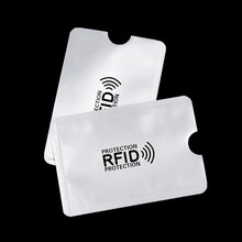 1/5pcs Safety Aluminium Anti RFID Blocking Card Holder Anti Thief ID Bank Credit Card Case Reader Protect Case Cover White 2(China)
