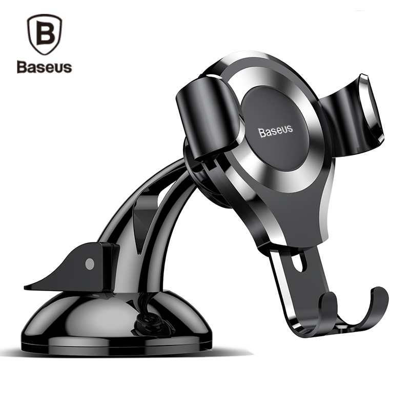 Baseus Universal Car Phone Holder Gravity Sucker Suction Cup Mount Holder For iPhone X 8 7 6 Samsung Mobile Phone Holder Stand