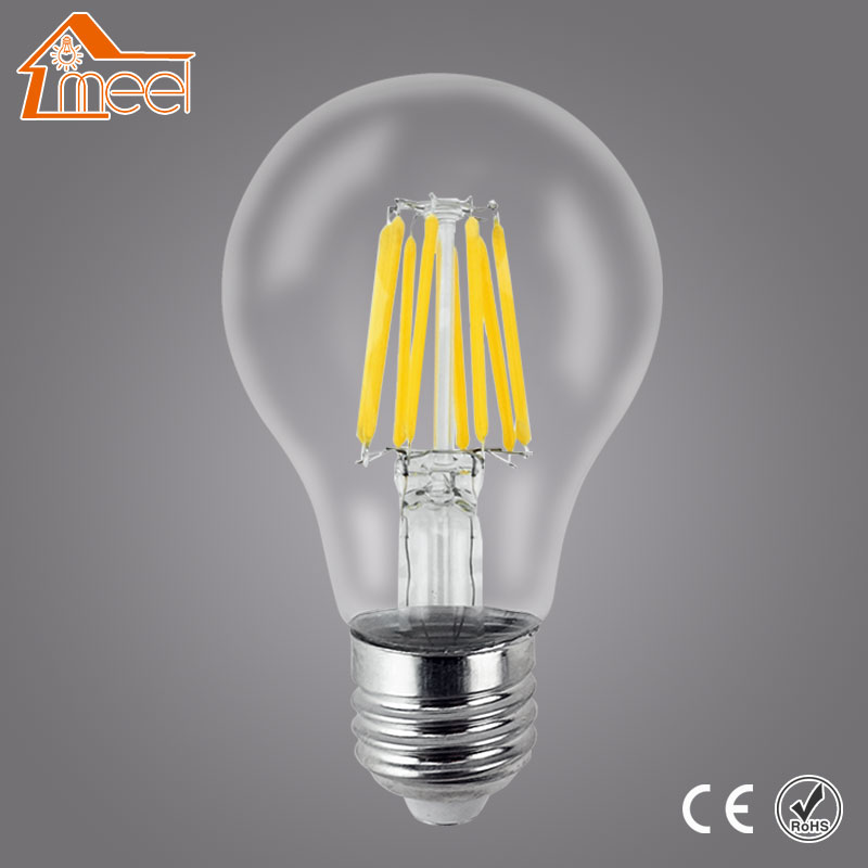 220V 240V LED Edison Bulb Dimmable E27 A60 Glass Housing Lamp Antique Retro Vintage Edison LED Filament Light Lamp 2W 4W 6W 8W retro vintage edison bulb led lamp e27 led filament glass light bulb 220v e27 energy saving lamps light 2w 4w 6w 8w 220v st64