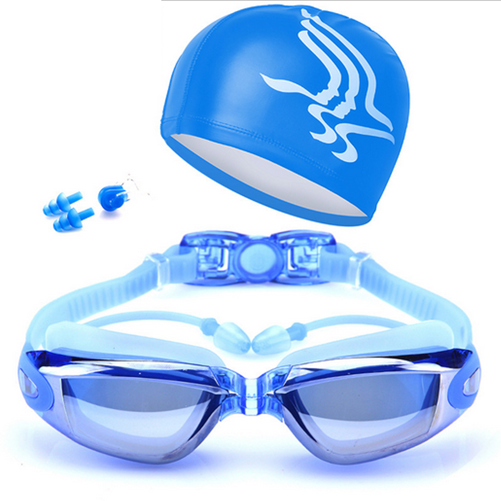 UV Adjustable Adult Prescription Swimming Goggles HD Anti-Fog Professional Swim Glasses 12