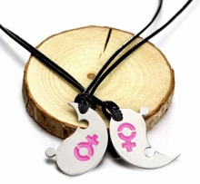 1Pair LGBT Gay Pride Necklace For Couple