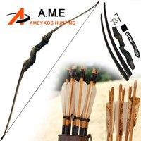 60 дюймов Американский охотничий лук снять изогнутый лук правой рукой черный Цвет подарок, стрельба из лука 30 60bls бамбук конечностей черный о