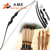 60inch American Hunting Bow Take Down Recurve Bow Right Hand Black Color Gift Arrow Rest 30 60bls Bamboo Limb Black Hunting