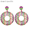Dream-it-Possible-Pair-Big-Statement-Round-Print-Flower-Earrings-5