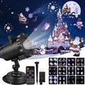 Proiettore Laser di natale Effetto di Animazione Fase Spotlight 12 Modelli IP65 Indoor/Outdoor di Halloween Del Partito Proiettore di Luce Laser