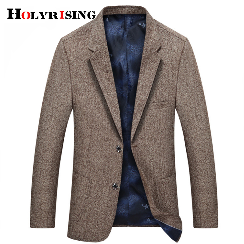 Holyrising British Stylish Male Blazer Suit Jacket Business Casual One Button Blazer For Men Regular Abrigo Hombre 18790-5