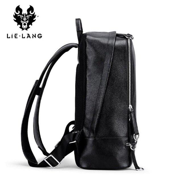 LIELANG Backpack Men 2018 Genuine Leather Mochila USB Charge Laptop Backpacks Anti-theft Backpack Tourist Boys Shoulder Bag 3
