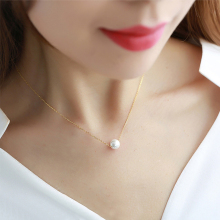 Sale Clavicle Graceful Pendant Necklace For Women Girls Romantic High Quality Imitation Pearl Necklace Fashion Jewelry graceful alloy faux feather necklace for women