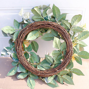 Image 5 - Artificial Succulent Flower Wreath Garden Hanging Wreath for Home Wall Front Door Wedding Decor