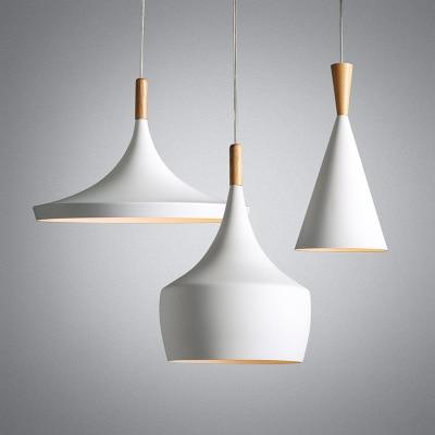 ABC 3pcs/lot White Wood Aluminum Musical Instrument Beat Pendant Light Fixture Modern Nordic Hanging Lamp Luminaria Dining Room