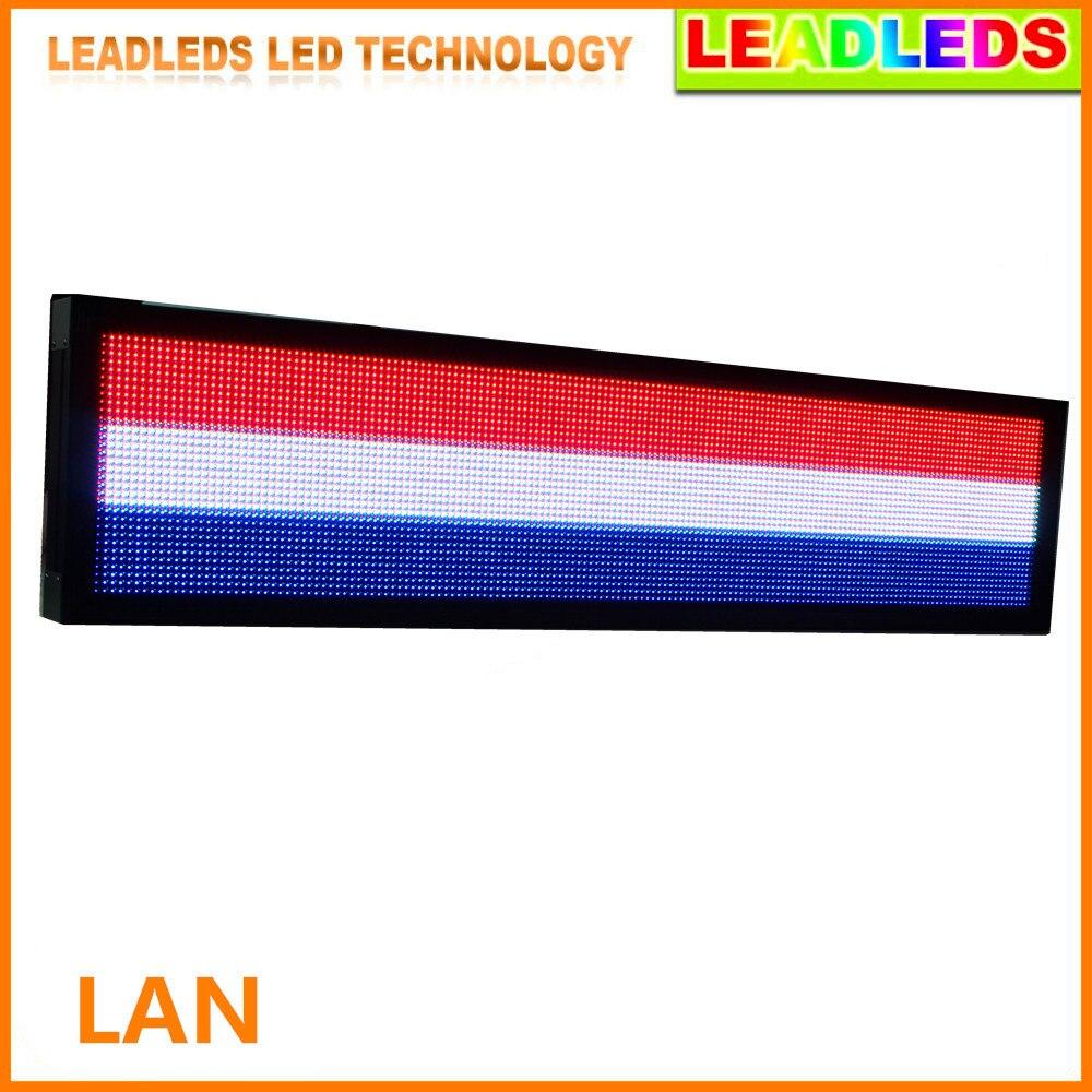 Panneau polychrome extérieur de signe de affichage vidéo LED d'écran de LED de P10 32*192 pixels, employez le module polychrome imperméable de rvb de P10 LED