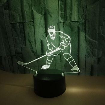Hotspot Buz Oynatıcı 3d masa lambası Gece Lambası Yedi renk Dokunmatik Stereo 3d Led Vizyon Lambası Uzaktan Kumanda Küçük masa lambaları