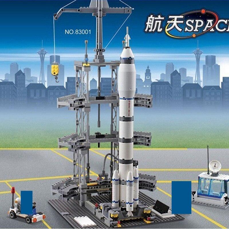 822 pièces série spatiale fusée Station aérospatiale blocs de construction ensembles LegoINGLs Avion technique briques à monter soi-même jouets éducatifs enfants