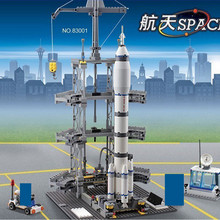 822Pcs Space Series Rocket Station Aerospace Building Blocks Sets LegoINGLs Avion Technic DIY Bricks Educational Toys Children