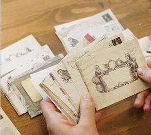 Envelope Paper-Bag Scrapbooking Kraft Party-Cards Gift Vintage Mini Retro 12pcs for Ancien