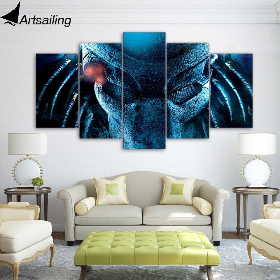 ᗕ5 unidades lienzo película Predator 1987 posters e impresiones ...