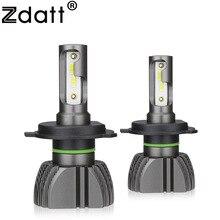 Zdatt Fanless H7 LED H4 LED H11 Auto Luce Del Faro Della Lampadina 8000LM 80 W H8 H1 HB3 9005 9006 HB4 6000 K CSP 12 V HA CONDOTTO 24 V Lampada Auto