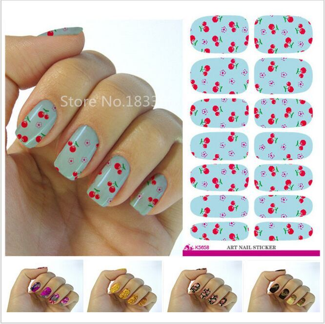 2017 Sale Manicure V609 New Fashion Water Transfer Foil Nail Stickers All Kinds Of Art Design Patterns Decorative Decal