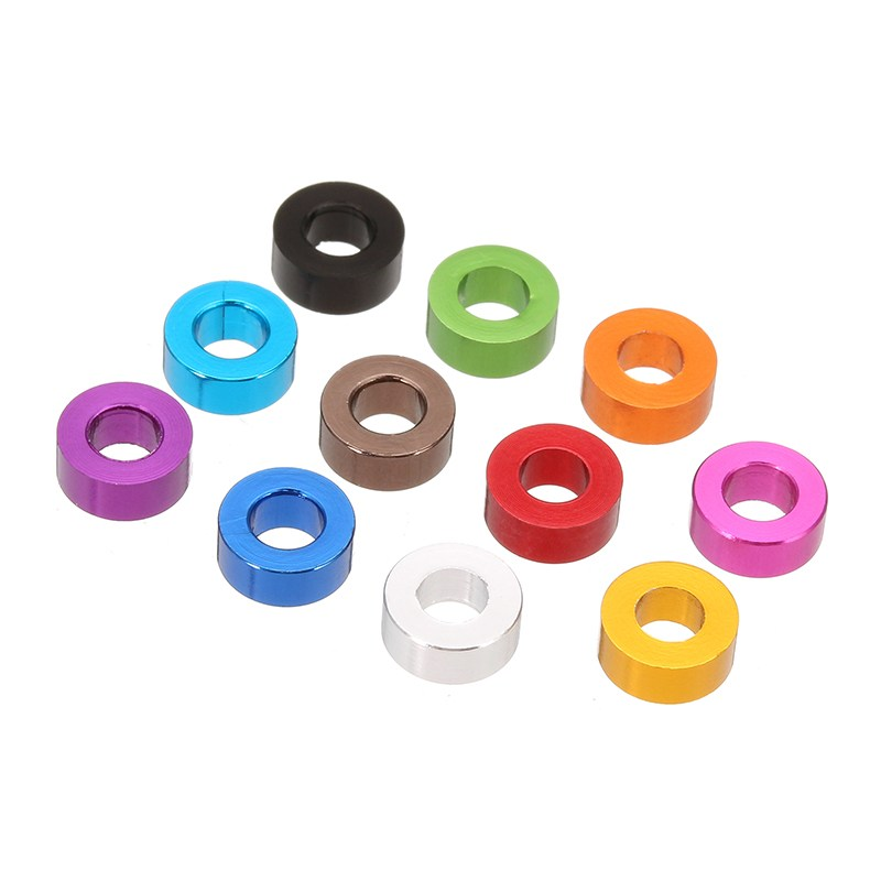 10Pcs/Set M3AN3 M3 Aluminum Alloy Thickening Flat Grommet Gasket Washer Spacers for FPV RC Multi-color Colorful blue Pink Royal hotsale 10pcs set pink