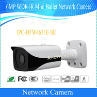 Free Shipping DAHUA Surveillance CCTV Camera 6MP WDR IR Mini Bullet Network Camera IP67 With EPOE DH IPC HFW4631E SE