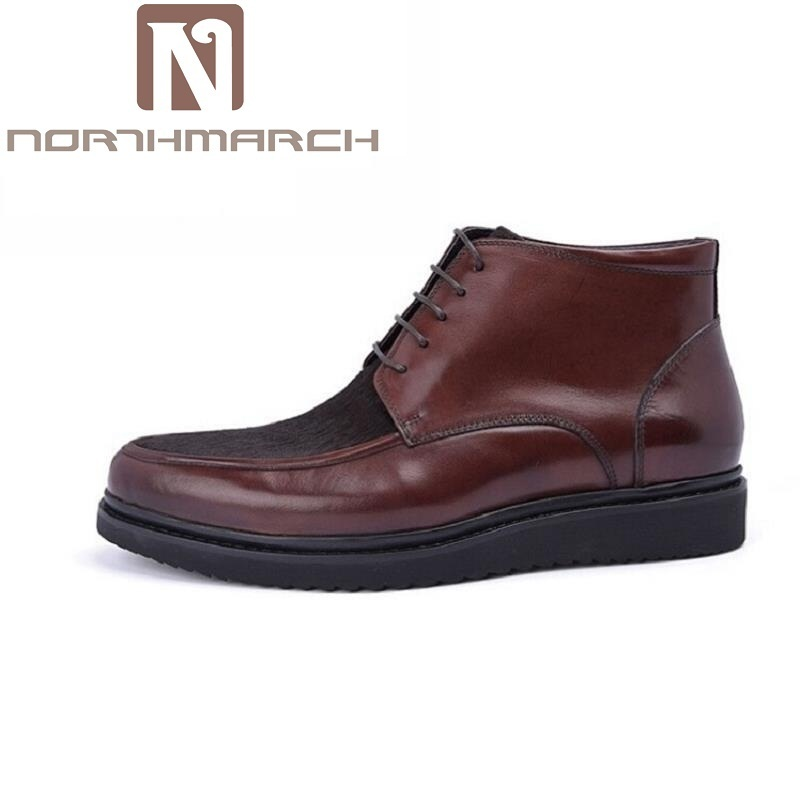 NORTHMARCH Vintage Men Boots Lace-Up Autumn Leather Martin Boots Men Business Winter Ankle Boots Comfort Casual Shoes Botas 2017 new england martin boots leather men boots 2017 new arrival autumn ankle boots winter men s casual lace up boots shoes