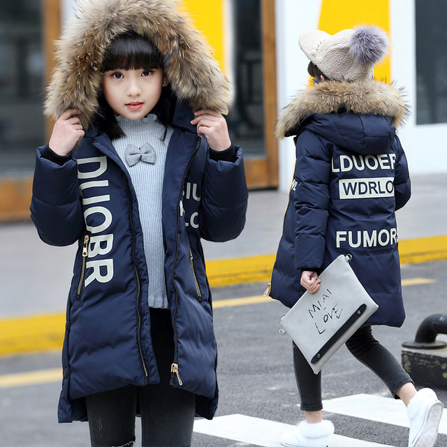 2016 winter Girls Kids boys Thicker letters Hooded  jacket coat  outer clothing comfortable cute baby Clothes Children Clothing