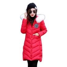 Зимняя Куртка Женщины 2016 Мода Новый Пуховик Женщин Плюс размер М-XXXL Parka Меховой Воротник Мягкий Теплый парки mujer