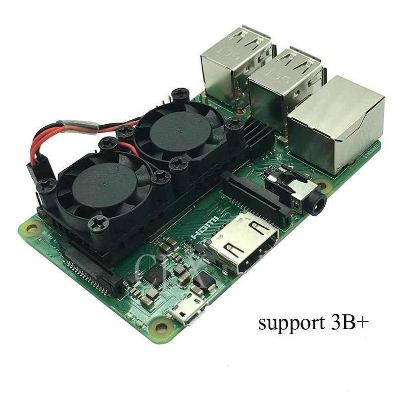 التوت بي 3 نموذج B (Plus) المزدوج مروحة نظام التبريد وحدة مع المبرد ل Pi3 B/NESPi