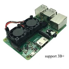 Raspberry Pi 3 Model B+(Plus) Dual Fan Cooling System Module with Heatsink for Pi3 B+ / NESPi Case(China)
