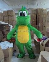 Yoshi Dinosaur Super Mario Maskot Kostüm Ücretsiz Kargo