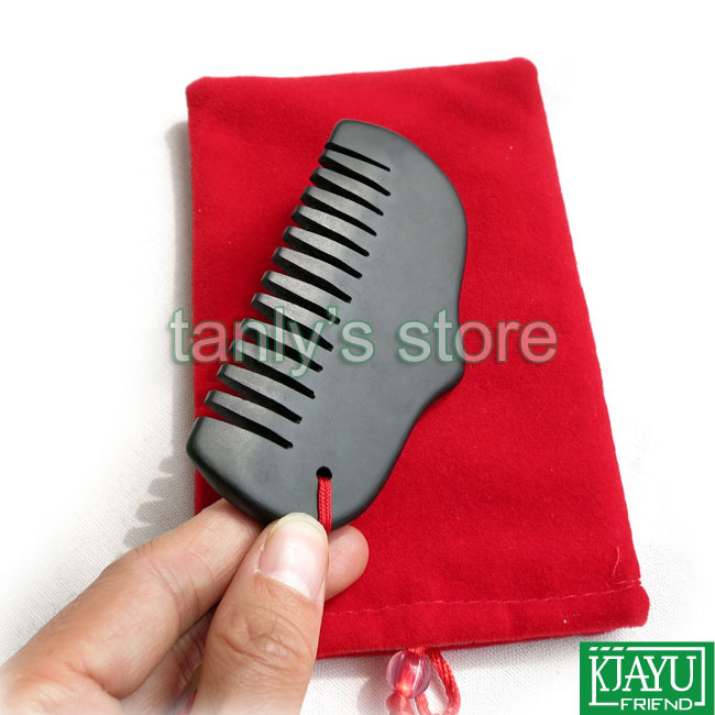 High quality! Wholesale & Retail Traditional Acupuncture Massage Tool Guasha Beauty face Comb Natural black Bian Stone 105x55mm retail traditional bian needle therapy black bian stone massage guasha tool