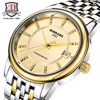 Relojes Mujer 2017 BINKADA Marca de Luxo Relógio Mecânico Automático Dos Homens Do Vintage Fino Moda relógios de Pulso À Prova D' Água do Sexo Masculino