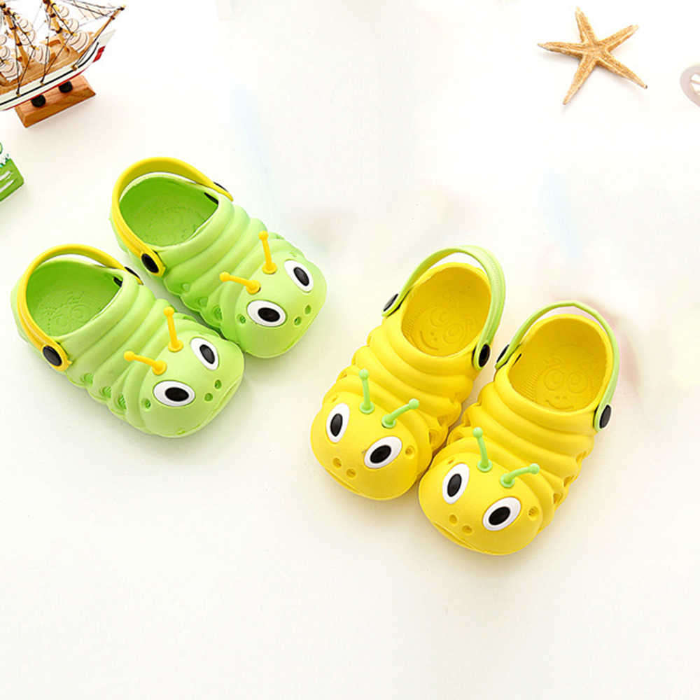ร้อนเด็กรองเท้าแตะฤดูร้อนน่ารัก caterpillar รองเท้าเด็กเด็กรองเท้าแตะในร่มรองเท้าแตะลื่นเด็กใหม่ 2018