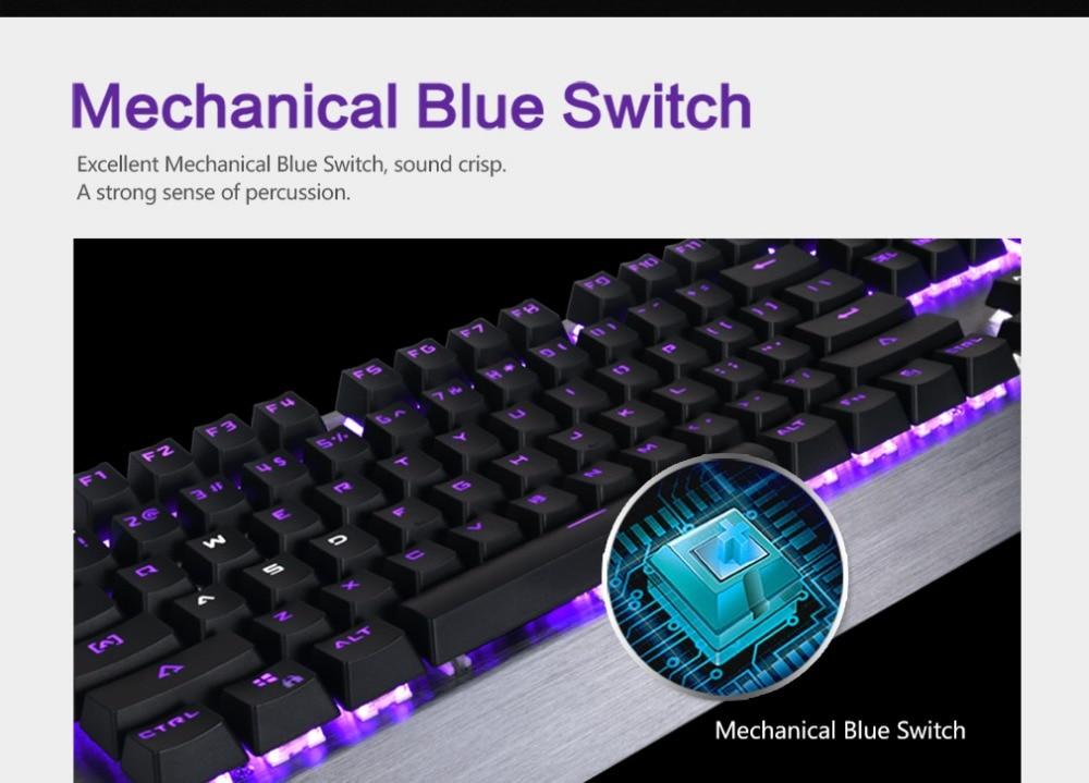 Delux KM02 usb keyboard Mechanical Keyboard Wire Gaming Keyboard Multimedia Ergonomic design Gaming Office For Desktop Computer
