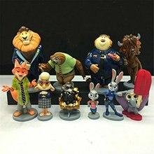 Plus size Zootopia Cartoon Mystery Mini Figure set of 10 Utopia Action Figure Pvc Models Nick Fox Judy Rabbit Dolls 5-11cm