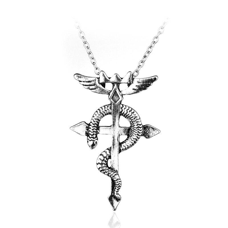 MQCHUN Anime Style Vintage Fullmetal Alchemist Edward Elric Chain Pendant Necklace Hot Sale Classic Women Men Statement Necklace
