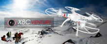X8C Drone With Camera HD 2 4G 4CH 6 Axis Drone Professional RC Quadcopter shatter resistant