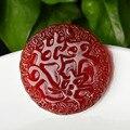 Natural calcedônia ágata e jade vermelho pingente de viagem Segura onde quer que vá um presente da jóia