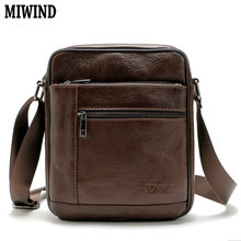 MIWIND 2016 Hot Men's Messenger Bags 100% Natural Genuine Leather Handbags Famous Brand Men Bag Fashion Casual Shoulder Bags BB7