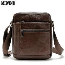 MIWIND 2016 Hot Men's Messenger Bags 100% Natural Genuine Leather Handbags Famous Brand Men Bag Fashion Casual Shoulder Bags BB7