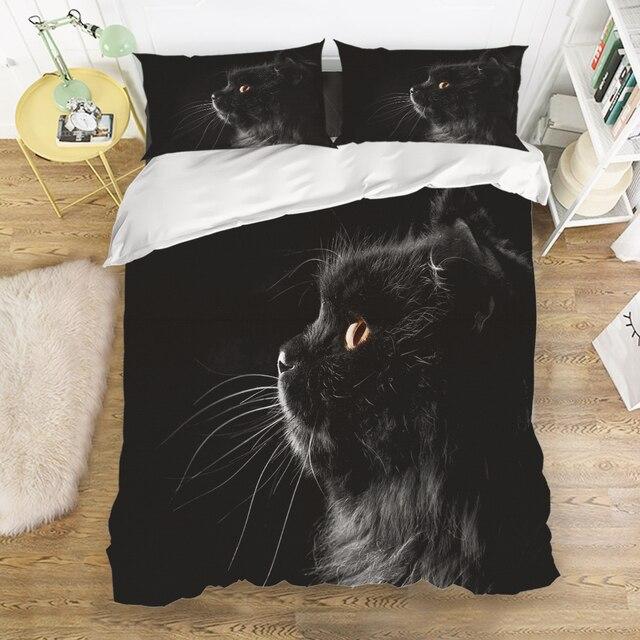 Aliexpress Com Buy Charmhome Black Cat Animal Print
