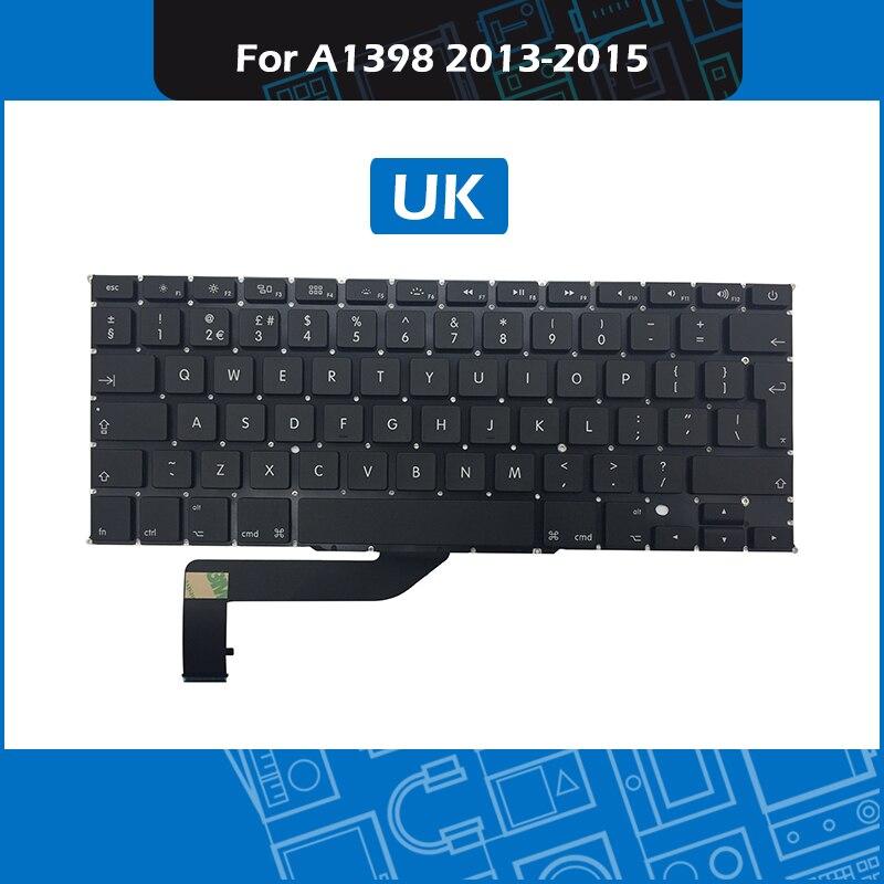 Layout de Teclado para Macbook Final de 2020 Meados de 2020 Lote Reino Unido Pro Retina 15 Teclado Substituição 10 Pçs – A1398